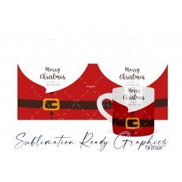 6oz Polymer Santa Mug Wrap Digital Sublimation Template