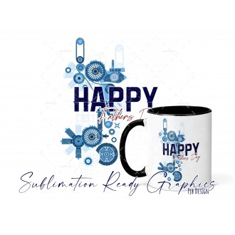 Happy Fathers Day Steampunk - Multi Use Digital Sublimation...