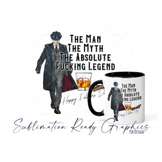 The Man Myth Legend [Swear] Peaky Blinders Style Fathers Day -...