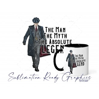 The Man Myth Legend Blank Peaky Blinders Style Fathers Day -...