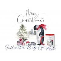 Christmas Eve Penguin Christmas Design - Sublimation Ready