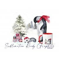 Christmas Eve Penguin Christmas Design - No Text - Sublimation...