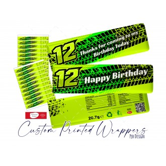 Birthday KitKat Wrappers for 12th Birthday Dirt Bike Style - 2...