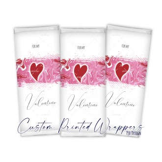 Valentines Replacement Chocolate Bar Wrapper - Be My Valentine...