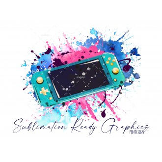 Teal Switch Lite Gamer NO Text - Festive Multi Use Sublimation...