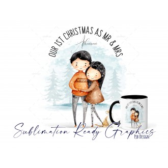Couples Christmas Design Our 1st Christmas as Mr & Mrs Multi...