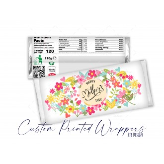 Mothers Day Floral Chocolate Candy Bar Galaxy Replacement Wrapper