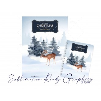 No Text Version of the Winter Deer Christmas Themed Planner...