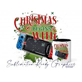 Christmas Begins With - Switch Gamer - Festive Multi Use...