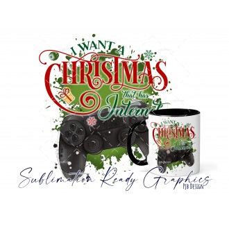 All I Want For Christmas Is - PS Gamer - Festive Multi Use...