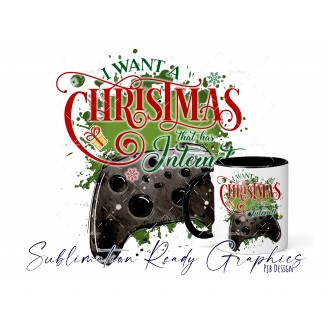 All I Want For Christmas Is - Xbox Black Gamer - Festive Multi...