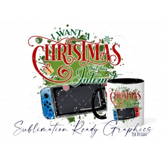All I Want For Christmas Is - Switch Gamer - Festive Multi Use...