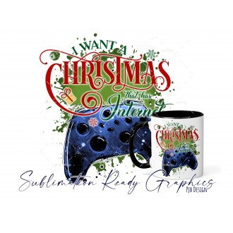 All I Want For Christmas Is - Xbox Blue Gamer - Festive Multi...