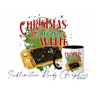 Christmas Begins With - Switch Gamer Yellow - Festive Multi...