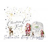 Christmas Eve Treats Santa Sack - Sublimation & Infusible Ink...