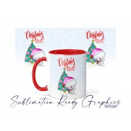 Cute Snowman Christmas Themed 11oz Ceramic Mug Wrap