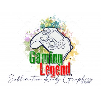 Controller Gaming Legend - Space for Names Digital  Multi Use...