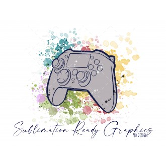 Controller & Splashes in Grey Textless Add Your Own Text...