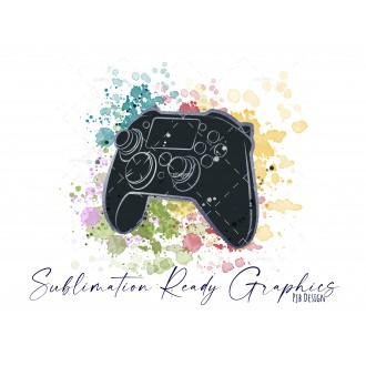 Controller & Splashes in Black/Silver Textless Add Your Own...
