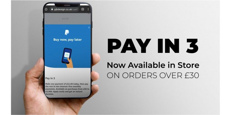 PayPal Instalment's Now Available - Pay in 3!
